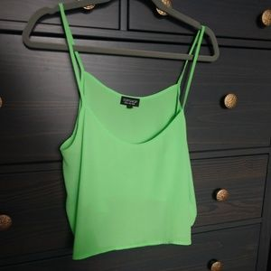 Topshop crop green top